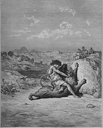 Samson Slays a Lion