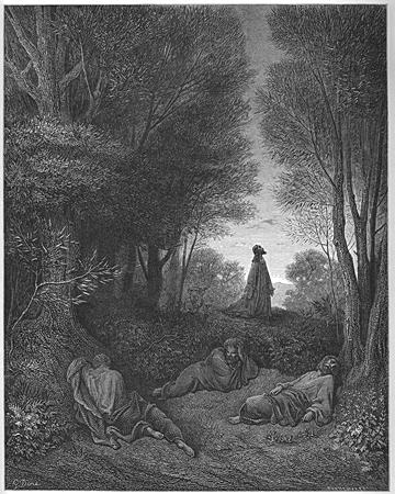 Jesus Prays in the Garden